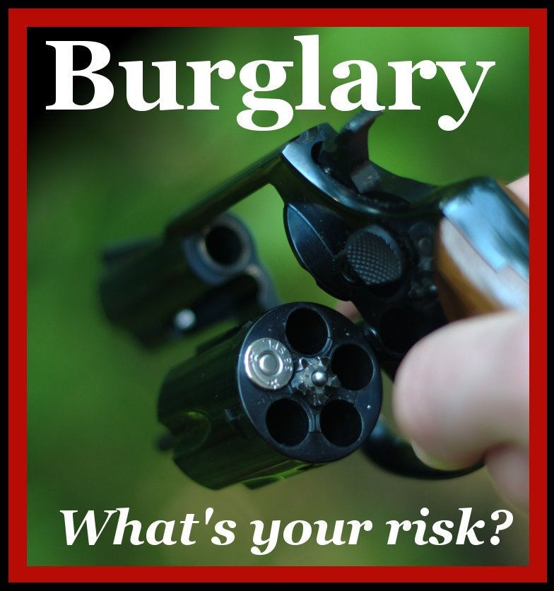 Revolver with one bullet loaded for Roullette - What's Your Risk of Burglary