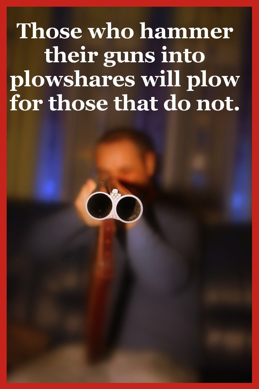 Home defense guns - guns into plowshares