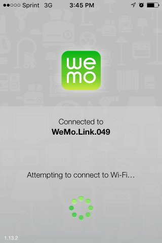 Connect to WeMo Link WiFi