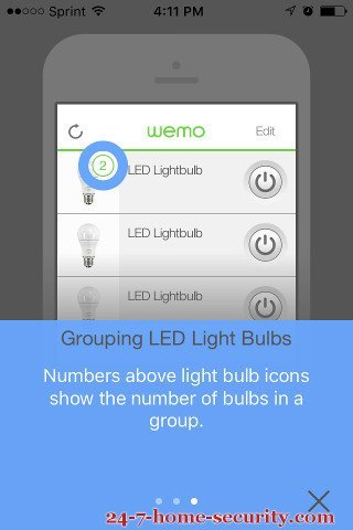 Grouping Wemo light bulbs