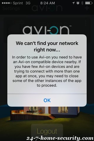 Avi-On Connecting to Bluetooth Network
