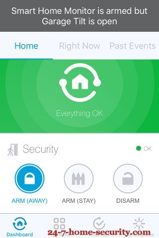 SmartThings Dashboard with modes
