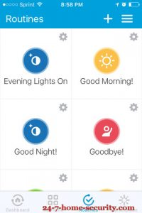 SmartThings v2 hub Routines