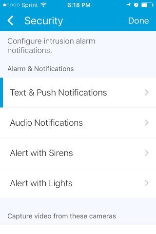 Samsung Security Notification Options