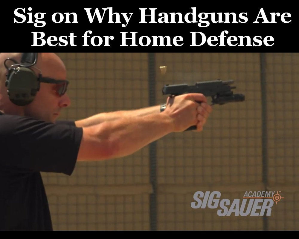 Sig Handguns For Home Defense Feature