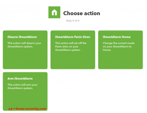 ifttt activity setup for ismartalarm