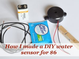 How to make a DIY water sensor for under $6