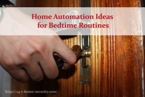 home automation routines before bed, locking doors